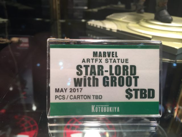 Kotobukiya ARTFX Star-Lord with Groot Statue Toy Fair 2017