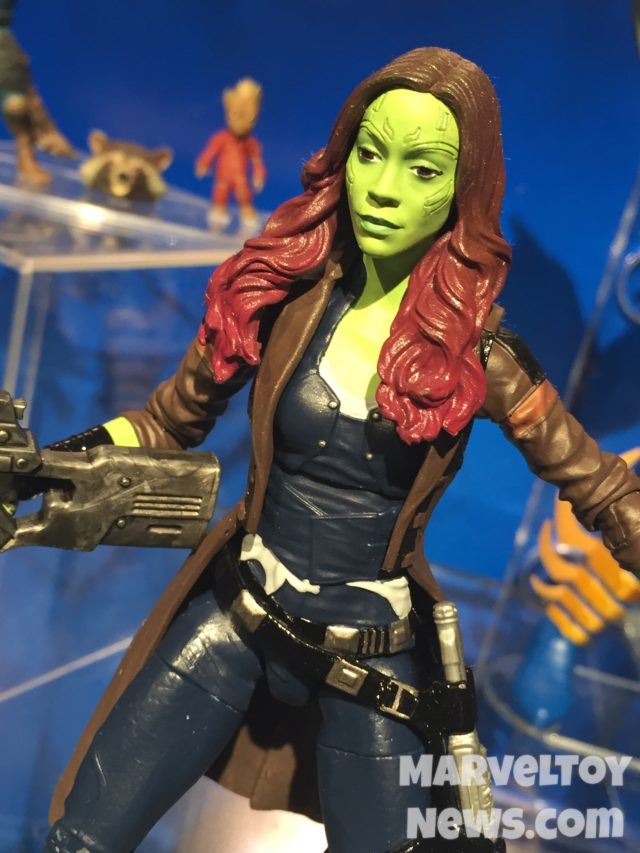 Marvel Legends 2017 Gamora Figure Close-Up