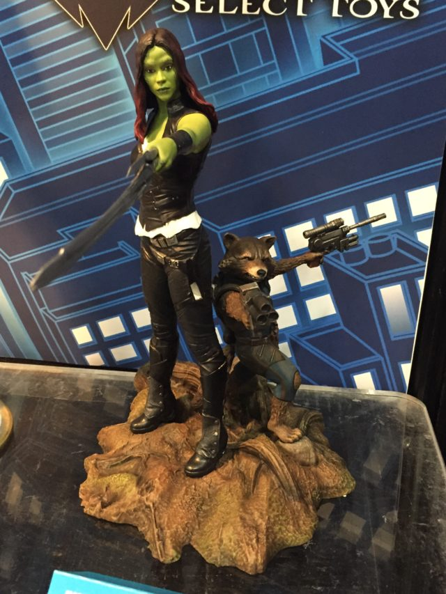 Marvel Gallery Gamora Rocket Raccoon Statue