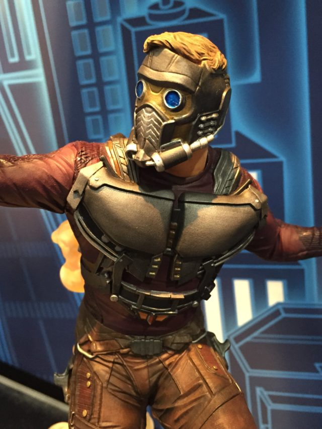 Close-Up of Diamond Select Star-Lord Statue New York Toy Fair