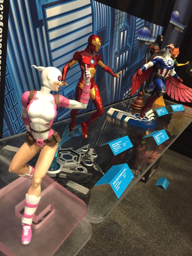 Toy Fair 2017 Marvel Gallery Statues Display Gwenpool Ironheart