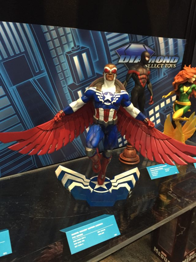 Toy Fair 2017 Diamond Select Falcon Captain America Statue