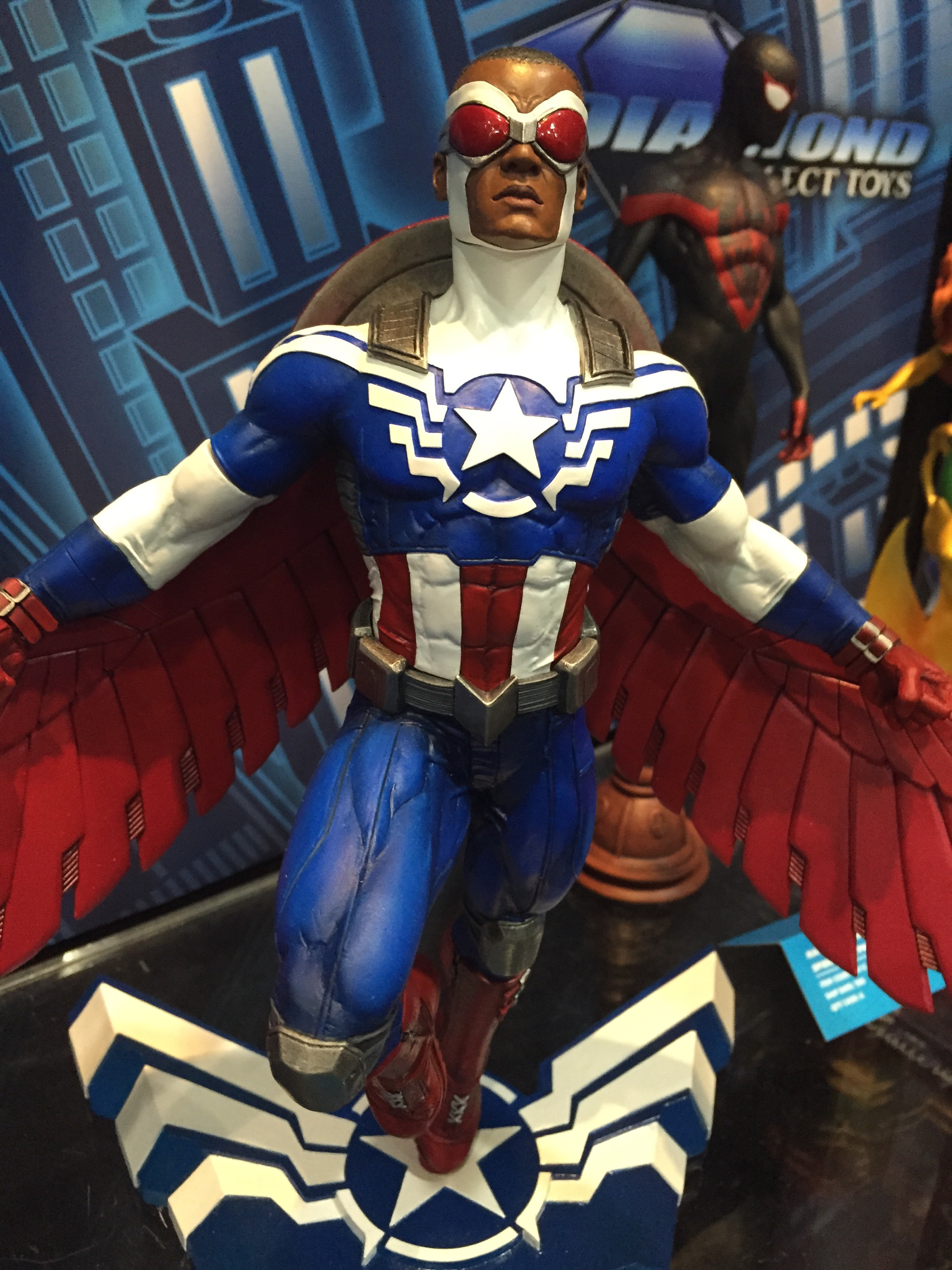 toy fair marvel gallery black panther falcon captain america marvel toy news. Black Bedroom Furniture Sets. Home Design Ideas