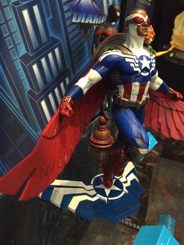Side View of Diamond Select Toys Falcon Captain America PVC Figure