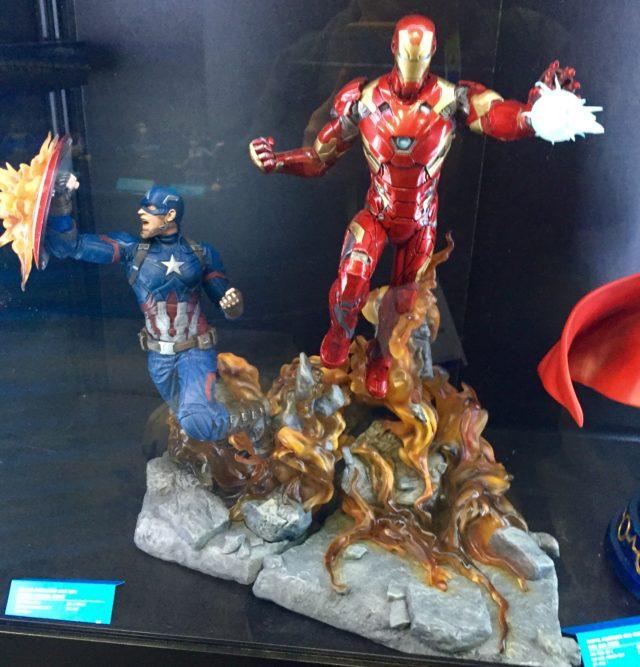 Marvel Milestones Civil War Iron Man and Captain America Statues