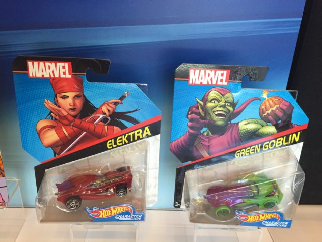 Toy Fair 2017 Hot Wheels Elektra and Green Goblin Cars