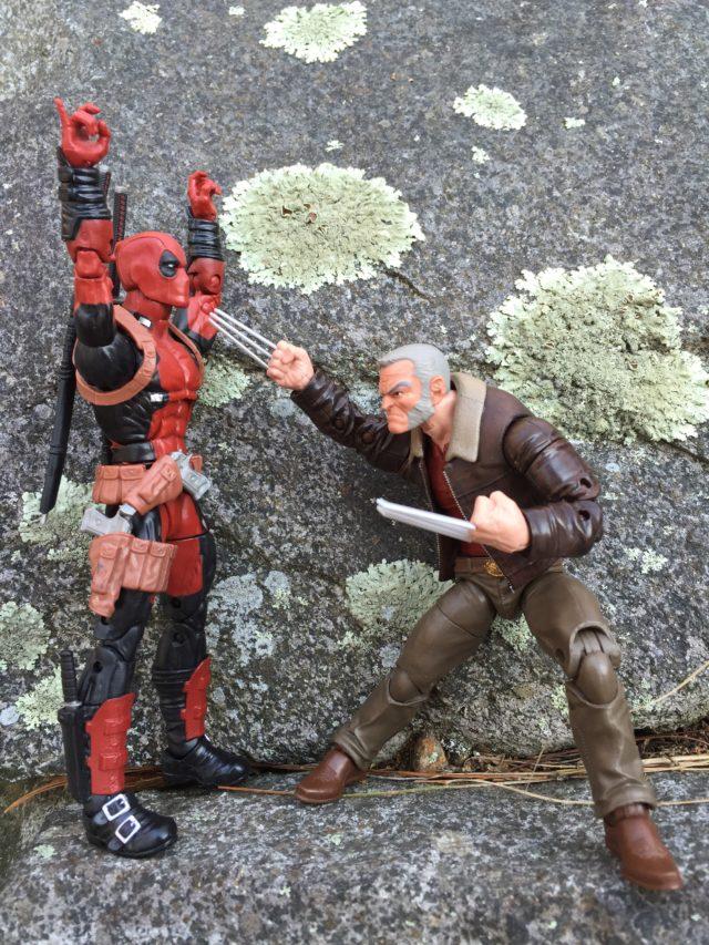 Hasbro Old Man Logan Marvel Legends Figure vs. Deadpool