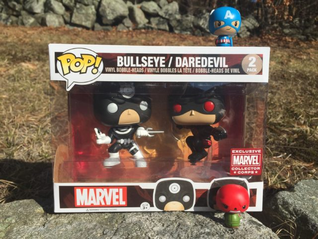 Funko Superhero Showdowns Marvel Box Vinyl Figures Bullseye Daredevil Red Skull