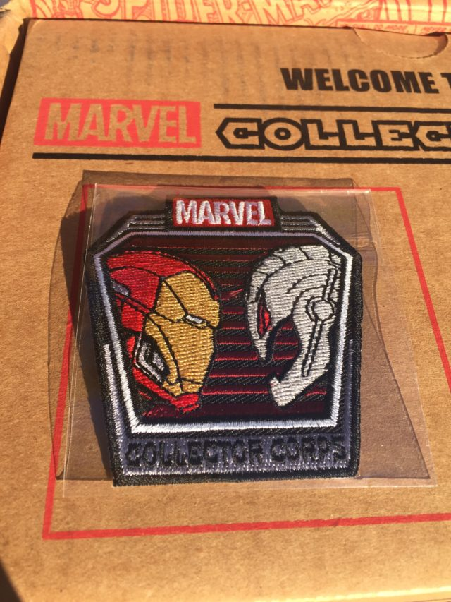 Superhero Showdowns Collector Corps Iron Man Ultron Patch