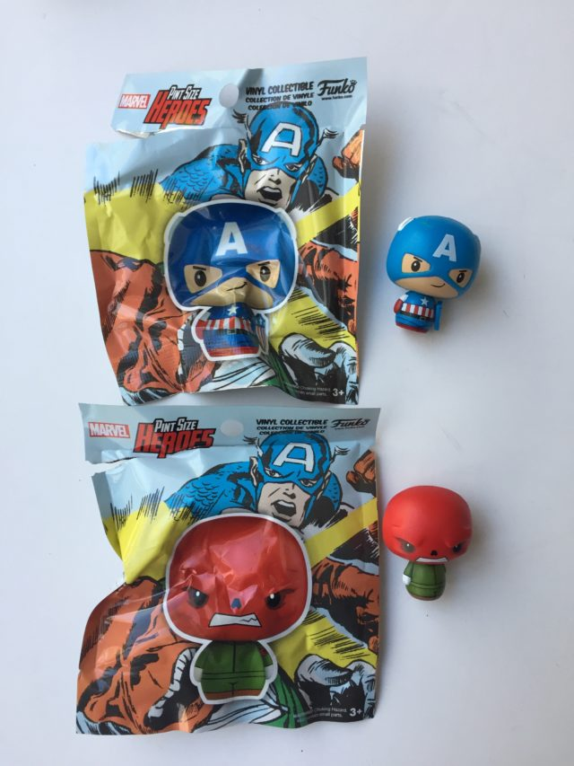 Collector Corps Pint Size Heroes Captain America and Red Skull Figures