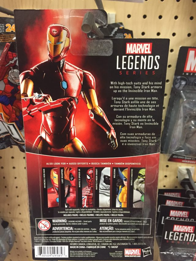 "All-New All-Different Iron Man Marvel Legends 2017 4"" Figure Packaging Back"