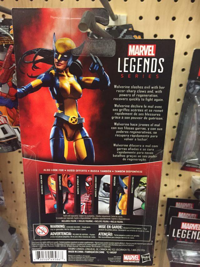 Marvel Legends 2017 X-23 Wolverine Figure Cardback