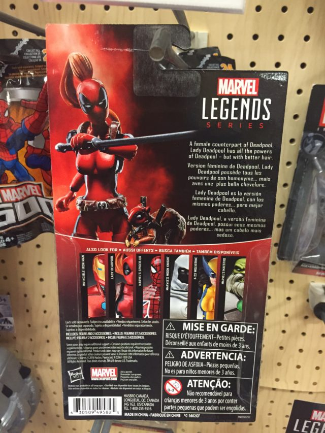 2017 Hasbro Marvel Universe Lady Deadpool Packaging Back
