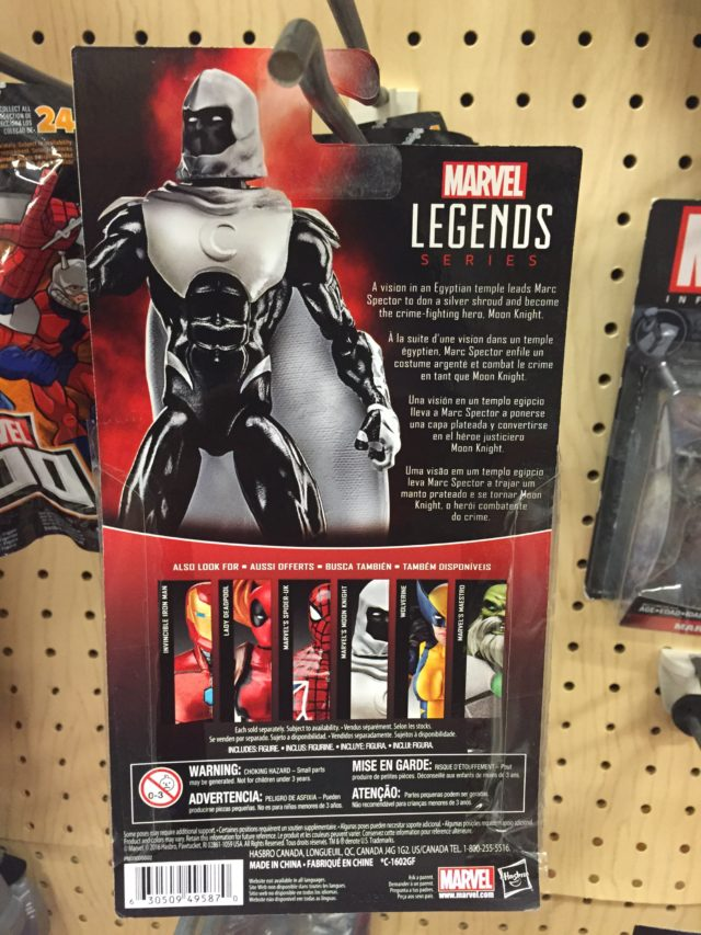 Moon Knight Hasbro Marvel Legends Universe Cardback 2017