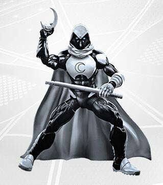 "Spider-Man Marvel Legends Moon Knight 6"" Figure Promo Image"