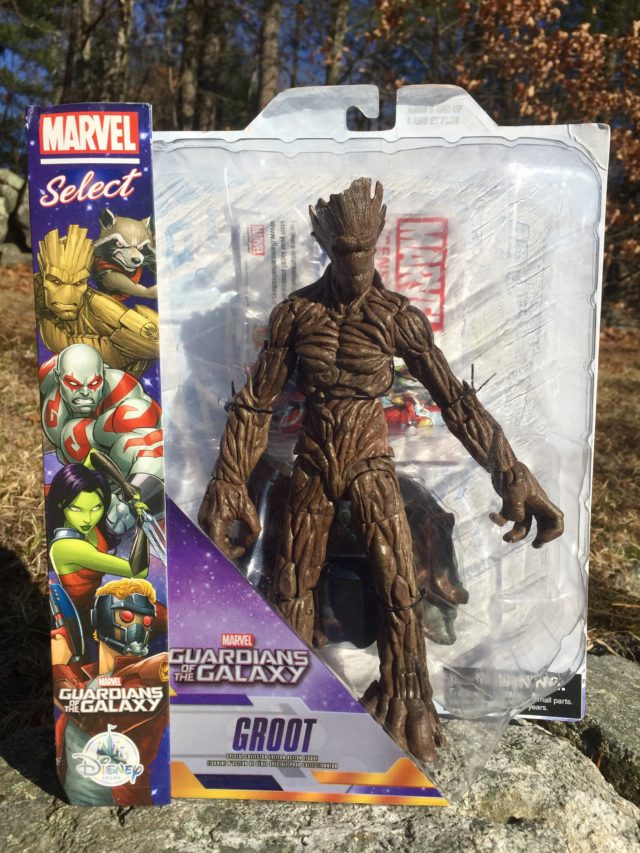 Marvel Select Groot Figure Review Packaged
