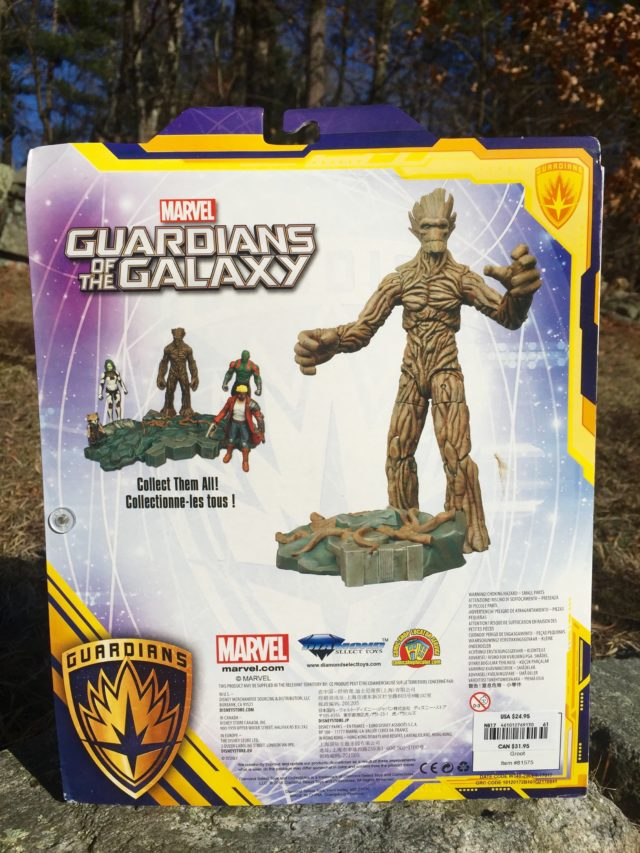 Box Back Marvel Select Groot 10 Inch Action Figure