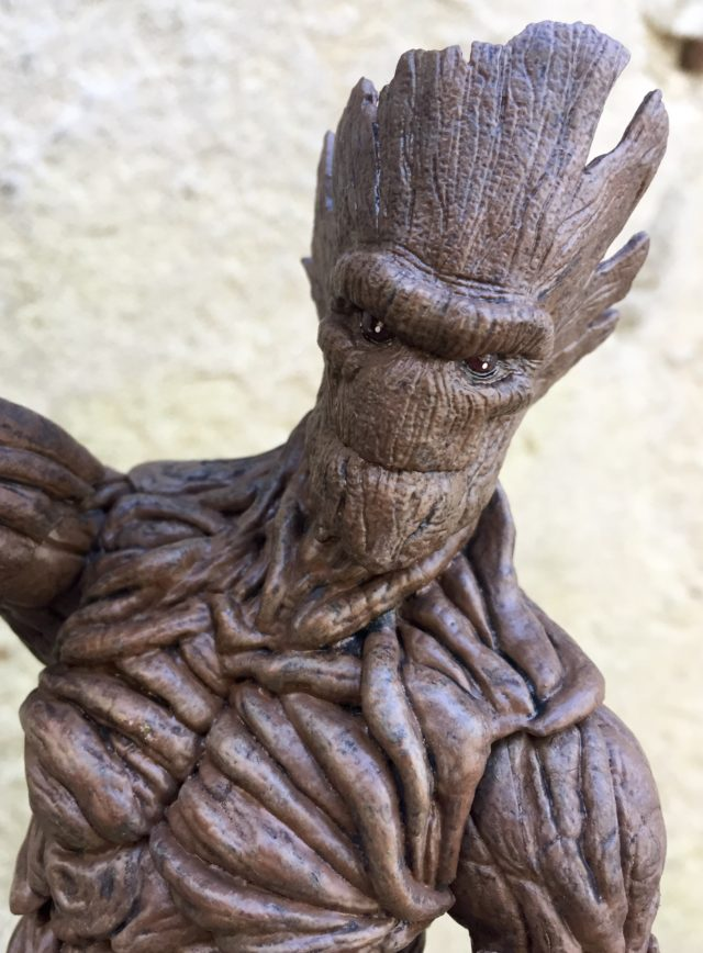 Close-Up of Marvel Select Groot Toy Head
