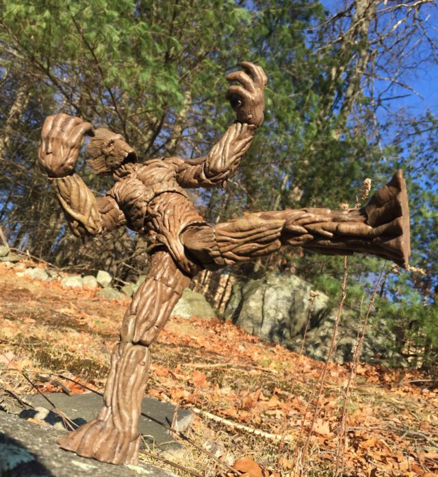 Groot Select Marvel Figure Doing Ninja Kick Articulation