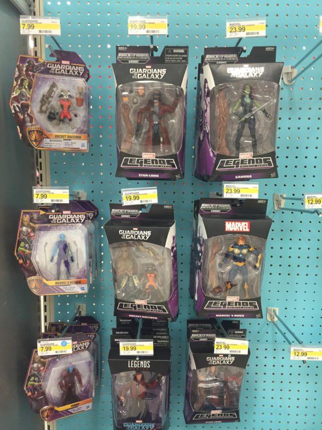 Target Marvel Legends Guardians of the Galaxy Figures Endcap