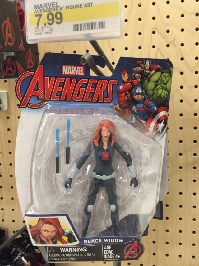 Black Widow Avengers 6 Inch Figure Packaged