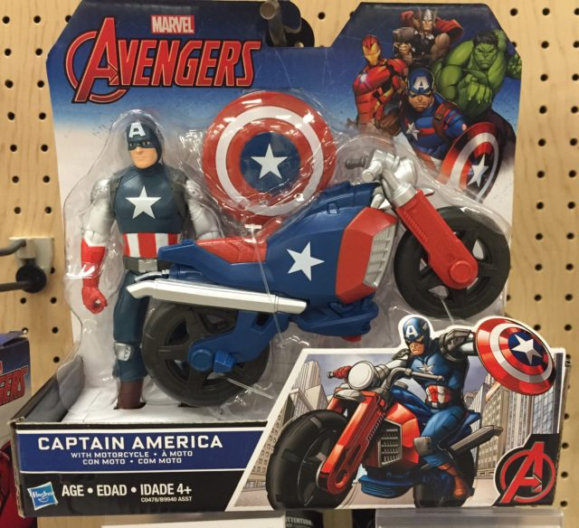 Avengers 6 Inch Captain America Figure with Motorcycle