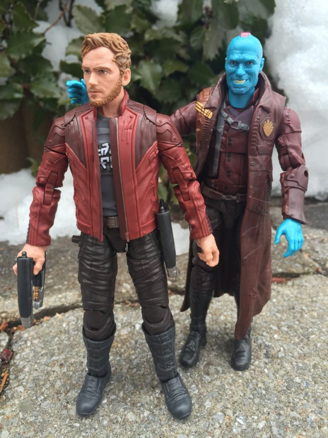 Guardians of the Galaxy Marvel Legends Yondu and Star-Lord Figures