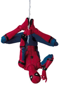 Medicom MAFEX Spider-Man Homecoming Figure Hanging Upside-Down