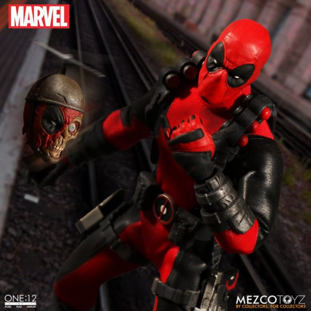 Mezco Marvel ONE 12 Collective Deadpool Exclusive Figure with Headpool