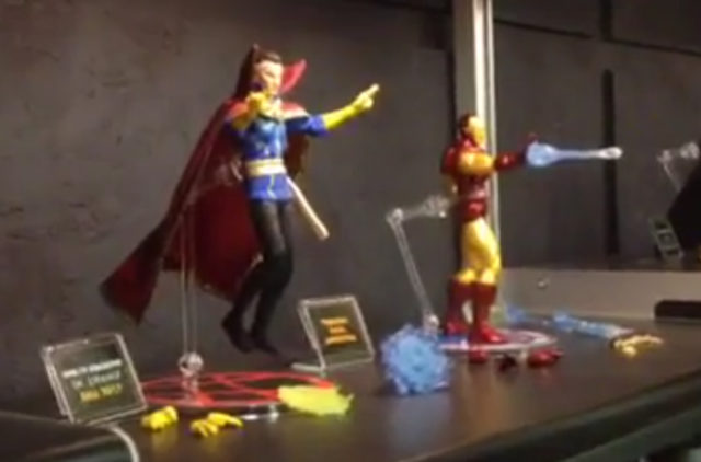 Pre Toy Fair 2017 Mezco Doctor Strange and Iron Man