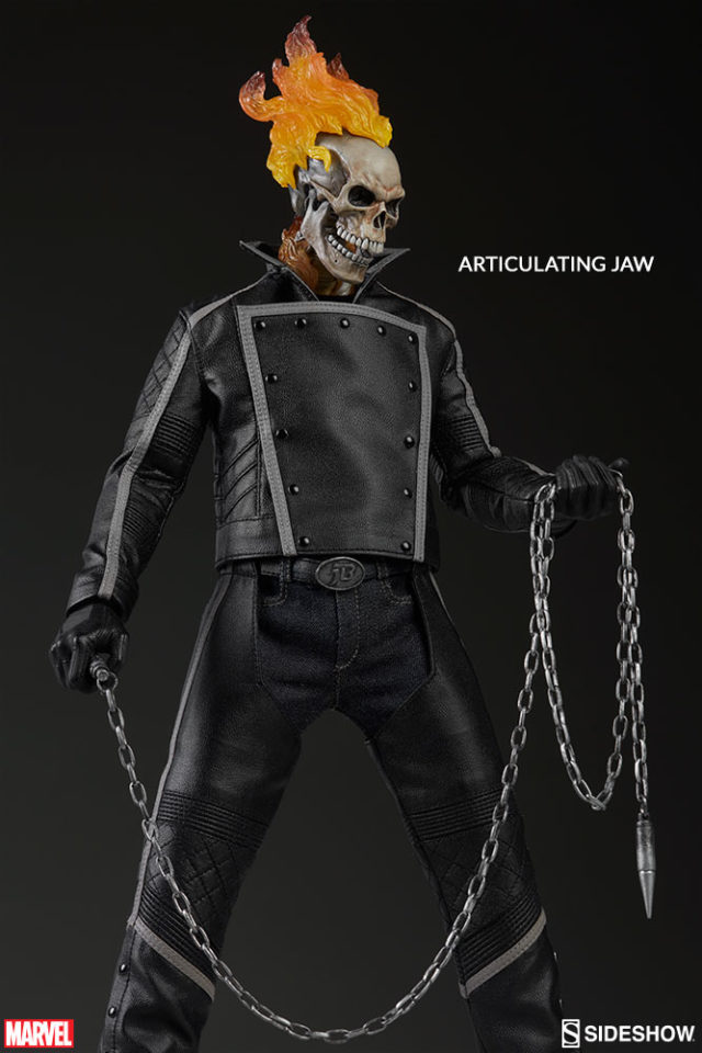 Sideshow Collectibles Ghost Rider Figure with Articulated Jaw