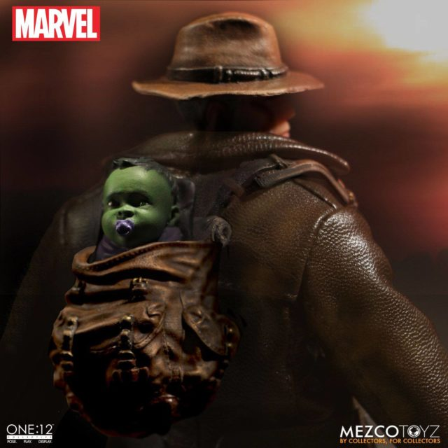 Baby Hulk in Mezco Old Man Logan ONE12 Collective Backpack