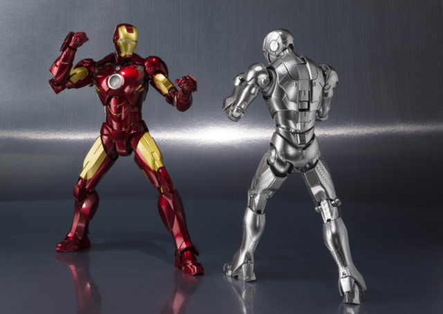 Back of Iron Man Mk II SH Figuarts Figure