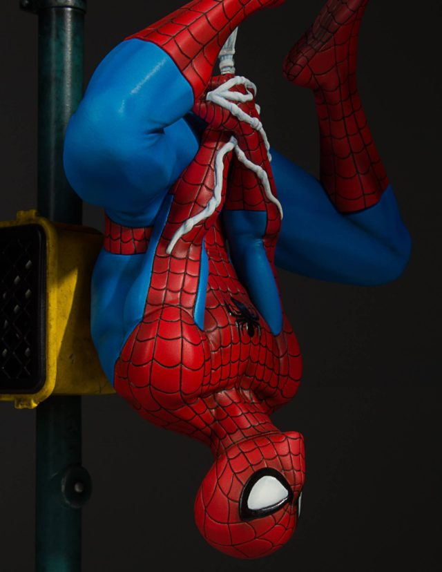 Close-Up of Gentle Giant Spider-Man Collector's Gallery Statue
