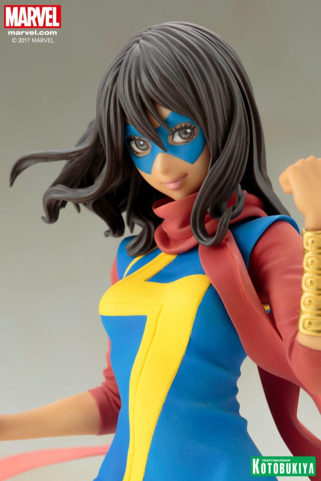 Close-Up of Kotobukiya Bishoujo Kamala Khan Ms. Marvel Statue