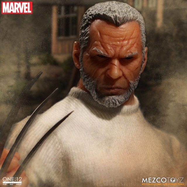 Close-Up of Old Man Logan ONE 12 Collective Figure Head