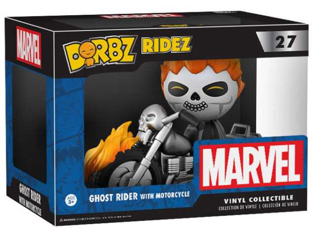 Dorbz Ridez Ghost Rider with Motorcycle Set Box Packaged