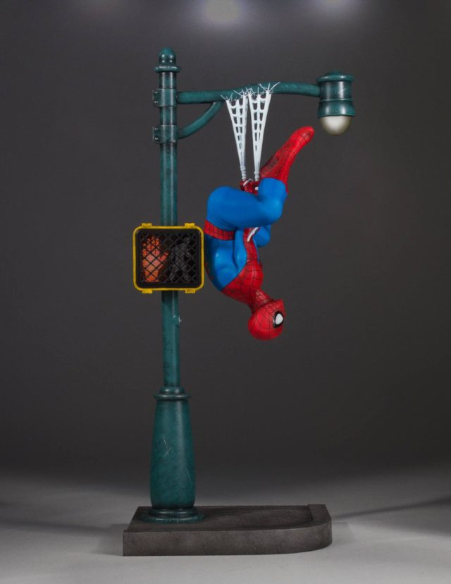 Electronic Traffic Light on Spider-Man Gentle Giant Statue
