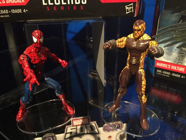 "2017 Toy Fair Marvel Legends 4"" Shocker and Spider-Man Figures"