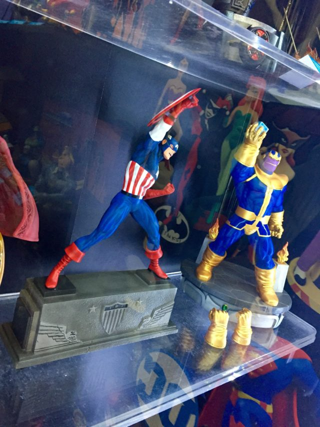 Toy Fair 2017 Marvel Premier Collection Thanos and Captain America Statues