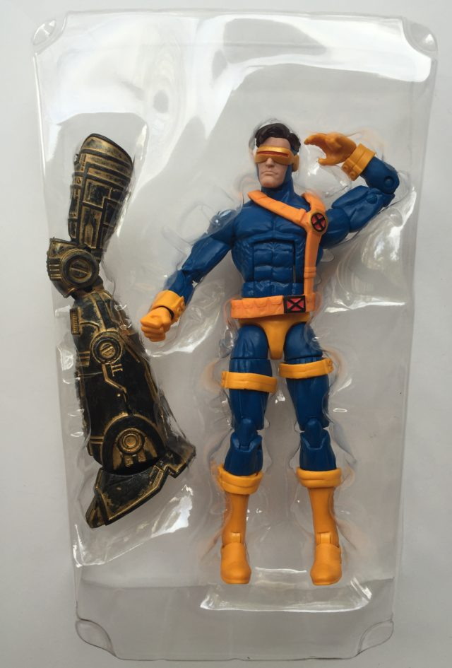 Cyclops Marvel Legends Figure with Warlock Build-A-Figure Leg