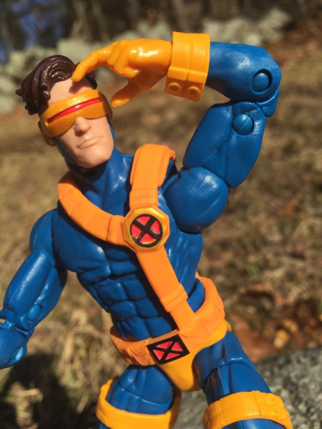 Close-Up of Jim Lee Cyclops Marvel Legends Head Warlock Series
