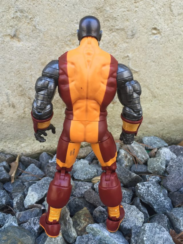 Back of 2017 X-Men Marvel Legends Colossus Hasbro Figure