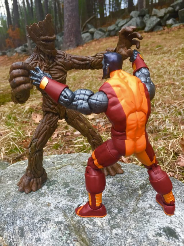 Marvel Legends Colossus 2017 Figure vs. Groot