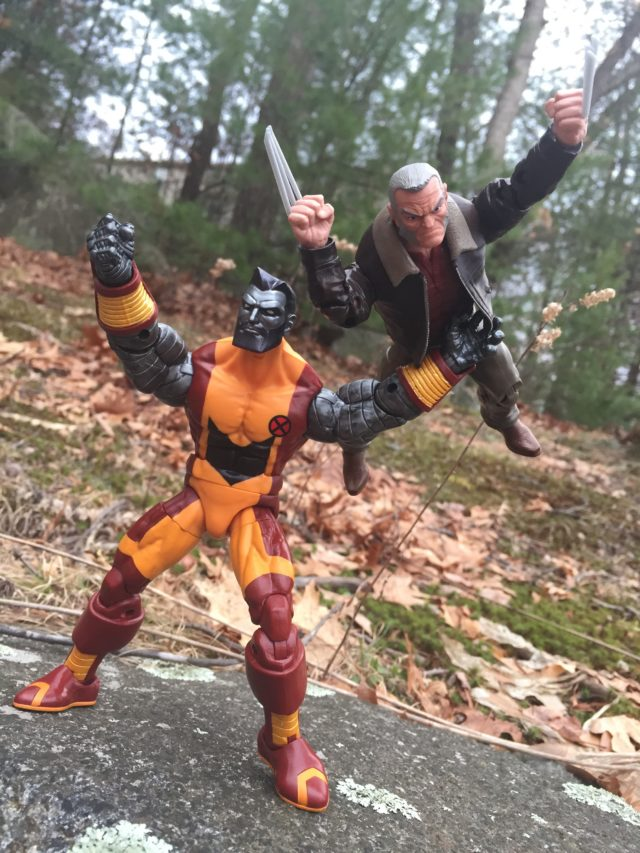Marvel Legends Colossus Throwing Wolverine Fastball Special