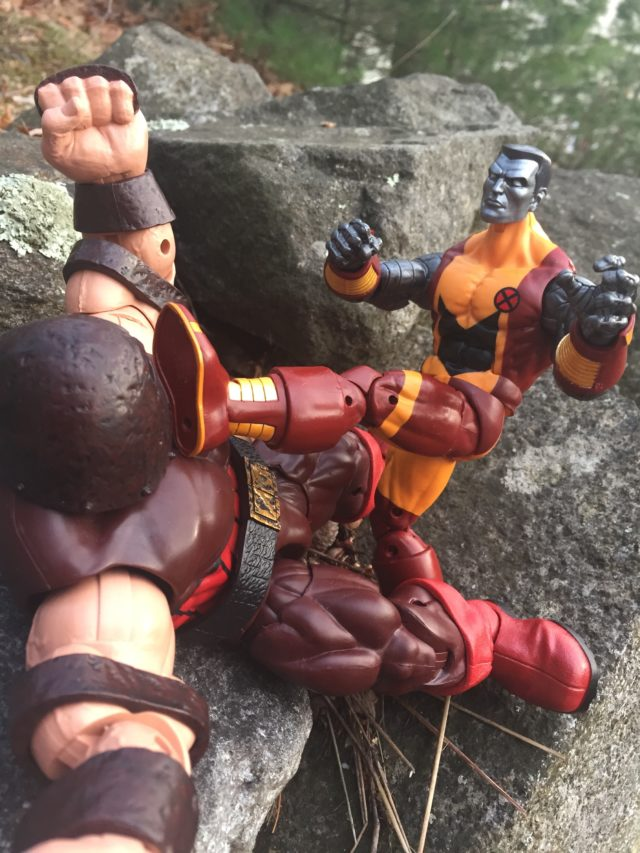 Marvel Legends 2017 Colossus Kicking Juggernaut in Face