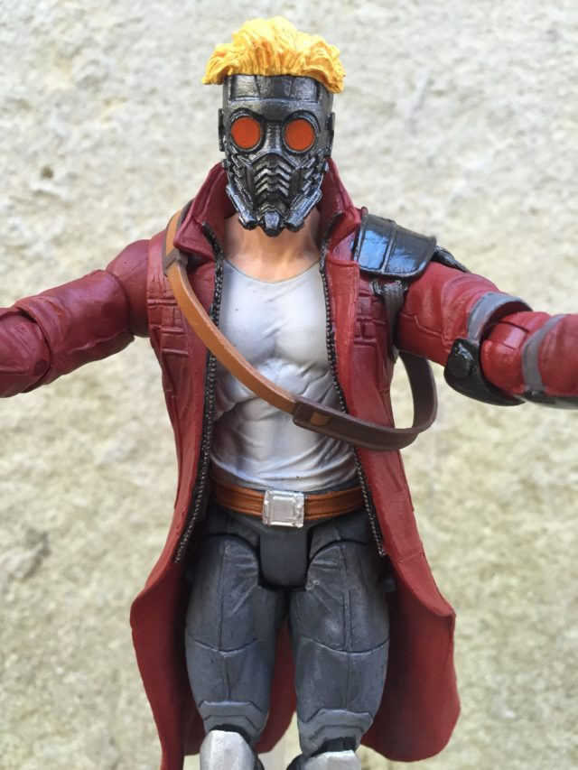 Close-Up of Marvel Select Starlord Figure Masked Head