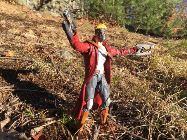 Marvel Select Disney Store Exclusive Starlord Figure Shooting Element Guns