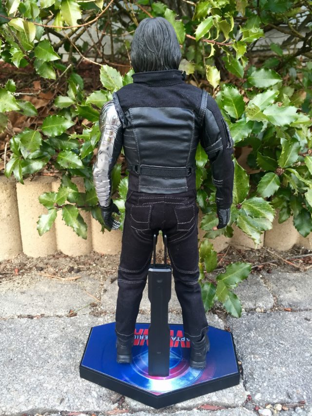 Back of Captain America Civil War Winter Soldier Hot Toys Sixth Scale Figure