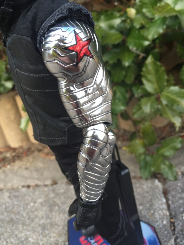 Chrome Winter Soldier Metal Arm on Hot Toys Civil War Bucky Figure